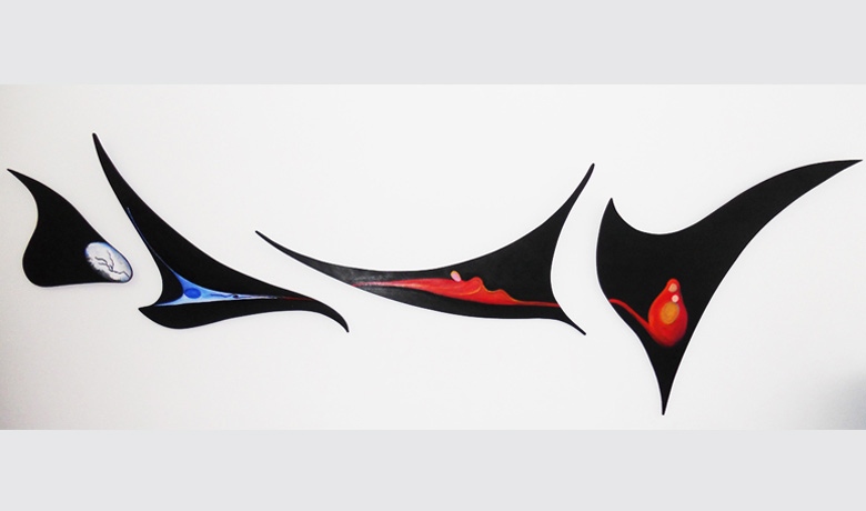 240 x 76cm - 2011 - Acrylic on Wood (Not for Sale)