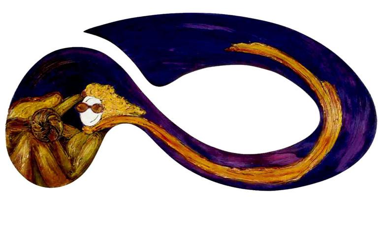 141,5 x 68cm - Técnica Mista sobre Recorte em Madeira - 02/2001 (não disponível)
