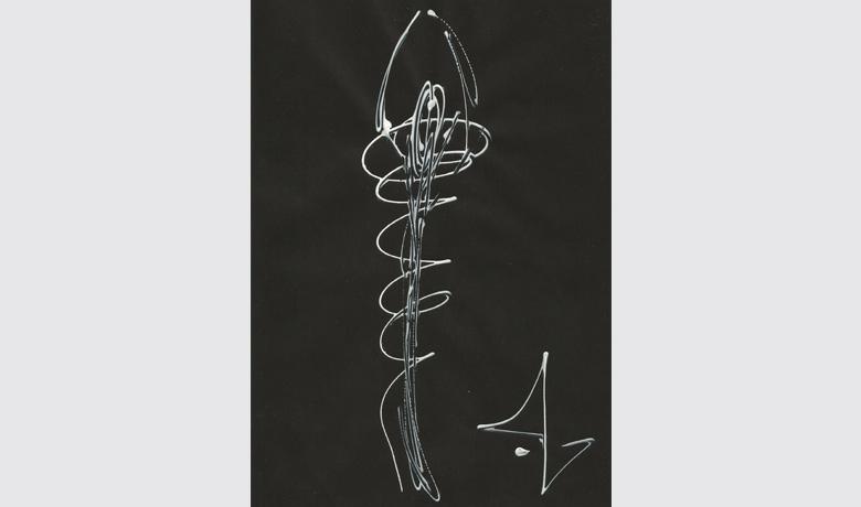21 x 29cm - 1999 - Tinta Relevo sobre Papel Canson Preto