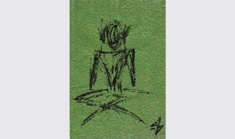 21 x 29cm - 1999 - Tinta Relevo sobre Papel Reciclado