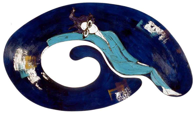 146 x 84,2cm - Técnica Mista sobre Recorte em Madeira - 02/2001 (não disponível)