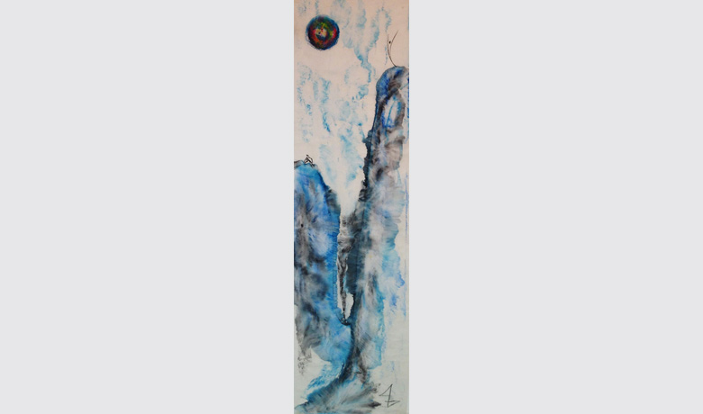 39 x 137cm - 11/2013 - Aquarela sob Papel de Arroz