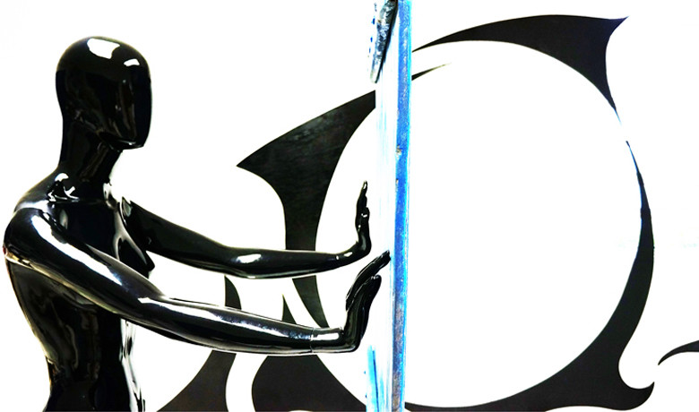 3x2x4m – 2014 - Tinta Automotiva sobre FiberGlass e graffiti sobre recorte em madeira