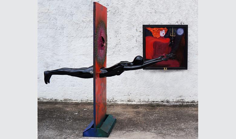 3x2.2x3m – 2015 - Tinta Automotiva sobre FiberGlass e graffiti sobre compensado de madeira